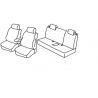 Housses Auto sur Mesure AUDI  A1  3 Portes  2010 à 2015  avec porte gobelet  assise arrière