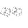 Housses Auto sur Mesure HARMONY  Citroen  C-CROSSER 5 Places