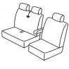 Housse de siège  utilitaire  Renault Master &  Renault Mascott  2002 à 2010 Banquette = 1 dossier  + 1 assise