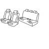 Housses Auto sur Mesure  BMW SERIE 3 Berline  (F30) 4 portes De 2012 à aujourd'hui  Sieges Recaro   Dossier coque en Plastic