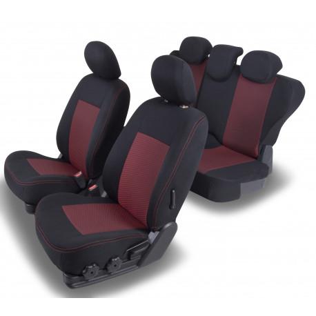 Housses Auto sur-mesure AUDI A4 de 2001 à 2007. Airbag boîtier, Accoudoir arrière et banquette arrière 1/3 2/3.