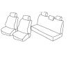 Housses Auto sur-mesure Dacia  Sandero Stepway De 2007 à 2012  1 dossier arrière