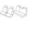 Housses Auto sur-mesure Dacia  Sandero Stepway De 2007 à 2012  ( 2 dossiers arrière