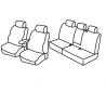 Housses Auto sur-mesure  VW  Golf Plus  De  2011 à aujourd'hui Avec tablettes