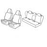 Housses Auto sur-mesure  VW  Golf  5 Sportline 5 Portes De 2003 à  2008  Avec accoudoir arrière