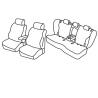 Housses Auto sur-mesure AUDI Q5  5 portes. Banquette arrière en 3 Parties  De 2017 à aujourd'hui