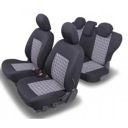 Housses Auto sur Mesure  HARMONY RENAULT CLIO 3  3 PORTES Arriere en 4 parties De  2005 à 2013