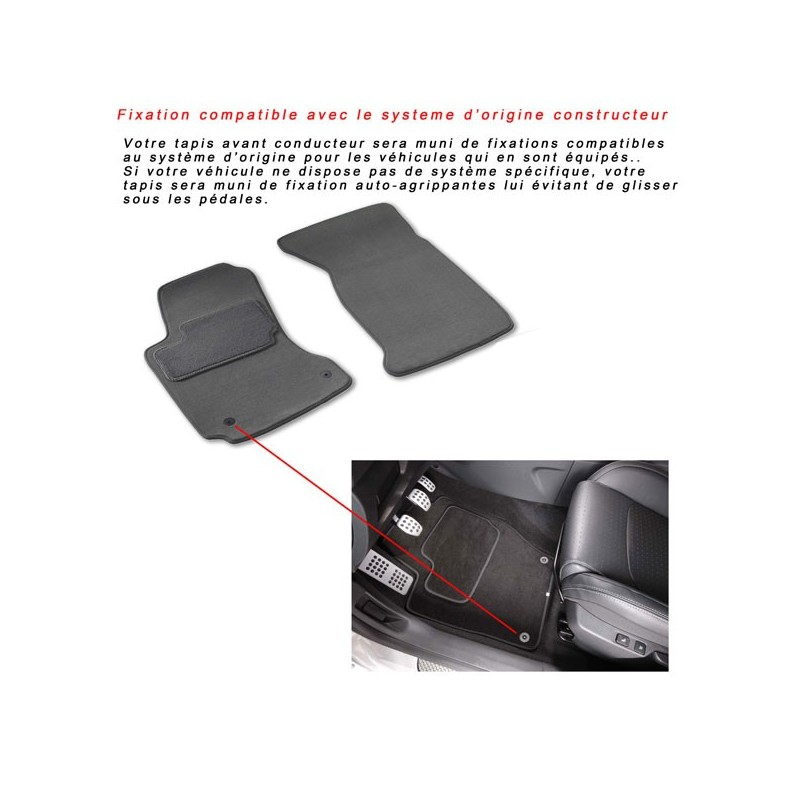 tapis de sol auto sur mesure pour voiture peugeot 107. Black Bedroom Furniture Sets. Home Design Ideas