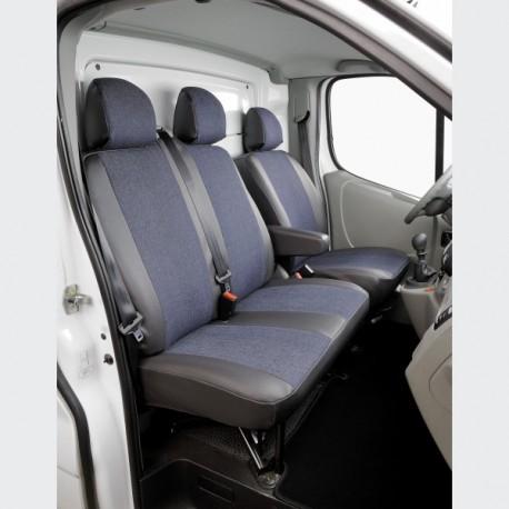 Housse de siège sur mesure utilitaire  Jeans + Simili CONFIGUREZ ICI