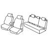 Housses sièges auto sur mesure Toyota C-HIC HYBRID de 2017