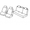 Housses sièges auto sur mesure Toyota Corolla Sedan Sans accoudoir arrière de 2013 à 2016