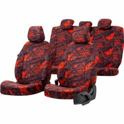 Housses sièges auto chasse  sur mesure Toyota Hilux de 2015 à 2021