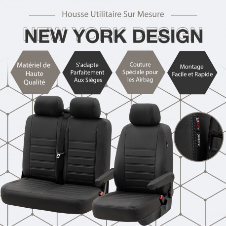HOUSSE UTILITAIRE SUR MESURE SIMILI CUIR Peugeot Partner De 2019 à aujourd'hui