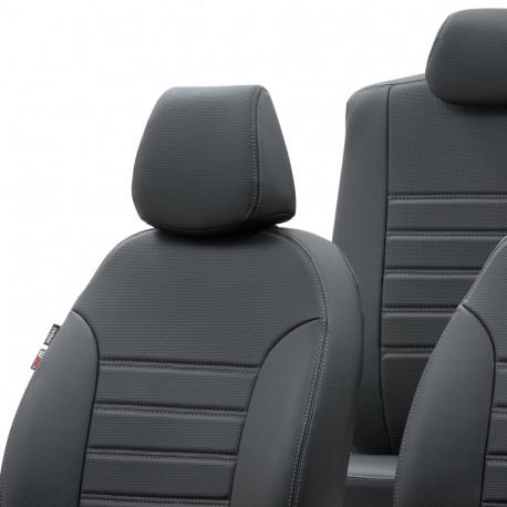 Housses  Sièges Utilitaires  sur Mesure Simili Cuir Renault Master 7 places  De 2011 à aujourd'hui  Banquette avant en 3 Parties