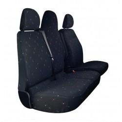 Housses de siège sur mesure utilitaires Renault Trafic  2014 à aujourd'hui  BANQUETTE EN 4 PARTIES