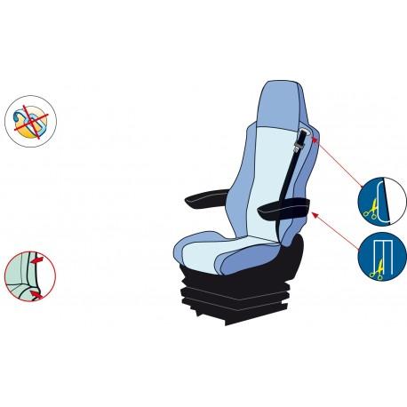 Housses de sièges Poids Lourds MERCEDES ACTROS De 2002 à 2011 ( 2 Sièges Avant )