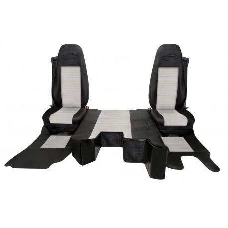Housses de sièges + Tapis de sol + protection capot moteur Renault Serie T