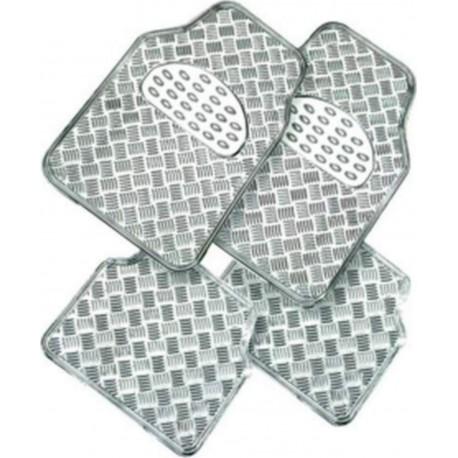 Tapis de sol  auto aspect aluminium Metalic