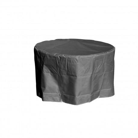 Housse de protection  table de jardin ronde Hauteur  65 cm Diamètre 120 cm