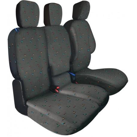 Housses de sièges sur mesure utilitaires Berlingo Partner 3 Places Depuis 2008 à 11 2018