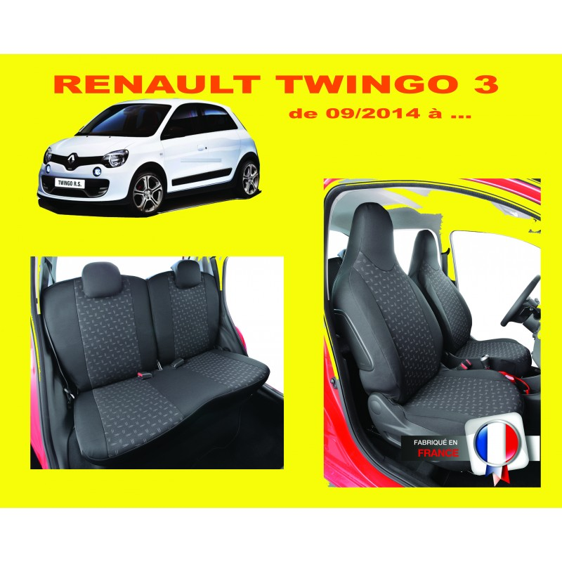 housse de siege auto sur mesure privil ge renault twingo 3. Black Bedroom Furniture Sets. Home Design Ideas