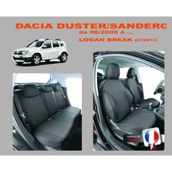 Housse de siège auto sur mesure Privilège Dacia Duster De 06/2008 à  11 / 2017