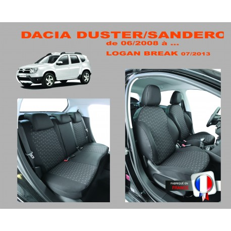 Housse sur mesure  Dacia Sandero  06 / 2008 à  11 / 2017