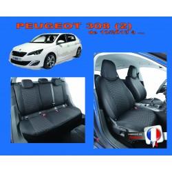 Housse de siège auto sur mesure Privilège Peugeot 308 Phase 2 De  10/2013 à aujourd'hui