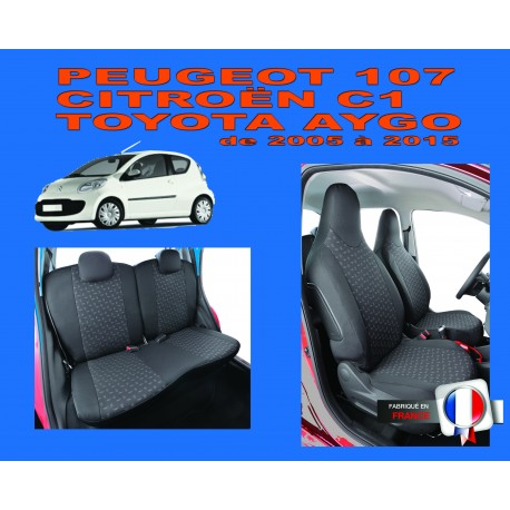 Housse de siège auto sur mesure Privilege Toyota Aygo Phase 1