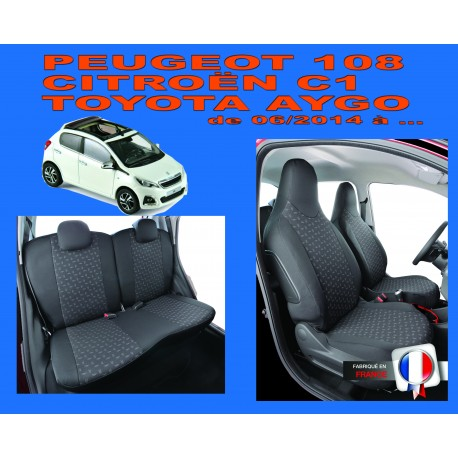 Housse sur mesure priviège Toyota Aygo phase 2