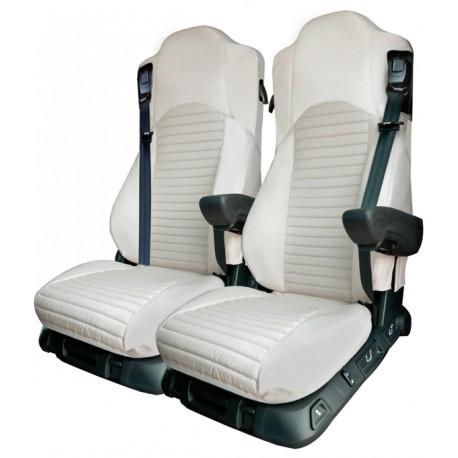Housses de sièges Poids Lourds Simili Cuir MERCEDES ACTROS De 2012 à aujourd'hui PASSAGER FIXE