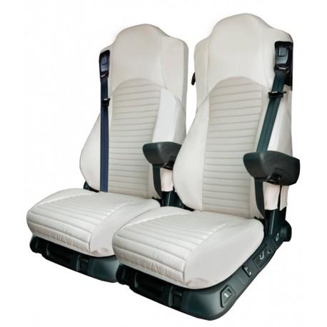 Housses de sièges Poids Lourds Simili Cuir MERCEDES  ANTOS De 2012 à aujourd'hui siège passager repliable