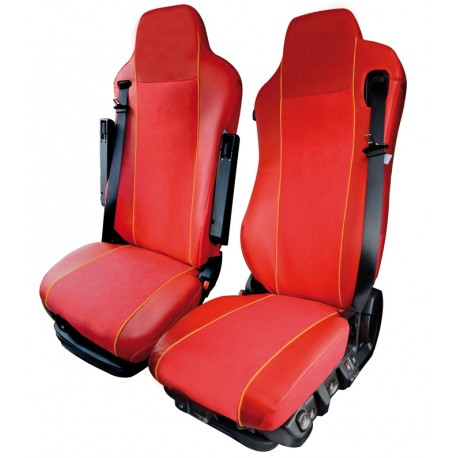 Housses de sièges poids lourds Bords simili + Centre Alcantra IVECO STRALIS HI-WAY à partir de 2013