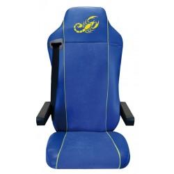Housses de sièges Poids Lourds  MAN TGA / TGL / TGM / TGS / TGX  Bords simili + Centre Alcantara ( La Paire)