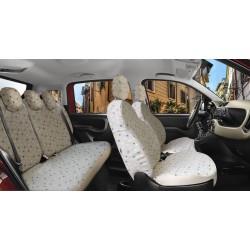 Housse  auto sur mesure FIAT PANDA à partir de 02/ 2012 à aujourd'hui Banquette fractionnable