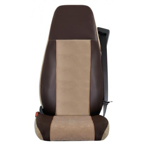 Housses de sièges Poids Lourds Bords simili + Centre Alcantara IVECO TRAKKER   Jusque 2012