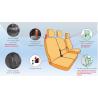 Housses de sièges sur mesure utilitaires SIMILI FORD TRANSIT CONNECT De 2013 à aujourd'hui