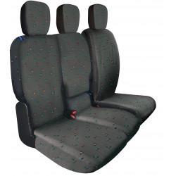 Housses de sièges sur mesure utilitaires Berlingo Partner 3 Places Depuis  11 2018 à aujourd'hui