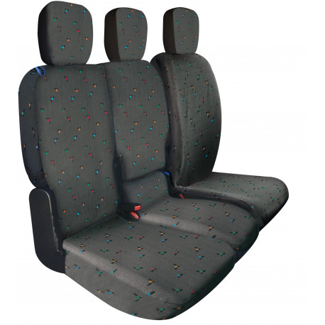 Housses de sièges sur mesure utilitaires Opel Combo Cargo 3 Places Depuis  11 2018 à aujourd'hui