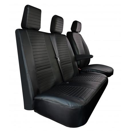 Housses de siège sur mesure utilitaires Renault Trafic et Opel Vivaro  De 2014 à aujourd'hui Banquette en 2 Parties