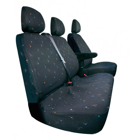 Housses de siège sur mesure utilitaires  Renault Trafic / Opel  Vivaro  De 2014 à aujourd'hui