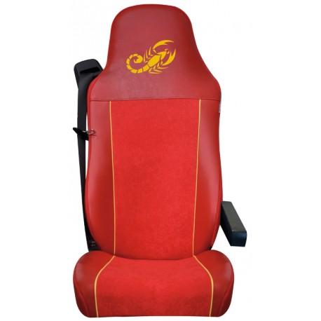 Housses de sièges Poids Lourds  MAN TGL / TGM / TGS / TGX  Bords simili + Centre Alcantara ( La Paire)