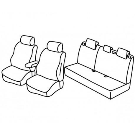 Housses Auto sur Mesure HARMONY Mitsubishi ASX Sans accoudoir  arrière