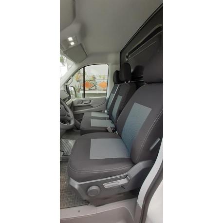 Housses Sièges  Utilitaires  sur Mesure VW Crafter Banquette = 2 dossiers + 2 assises  De 2017 à aujourd'hui