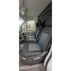 Housses Utilitaires  sur Mesure  Renault Trafic- Cabine approfondie sans accoudoirs arrière  De 2014 à aujourd'hui