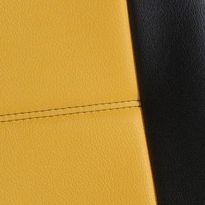 centre alcantara jaune bord simili noir